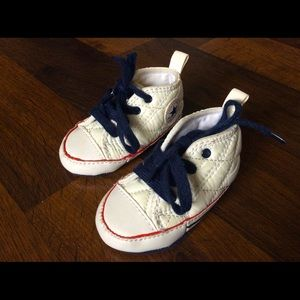 Converse baby crib shoes 2 boys girls soft lace